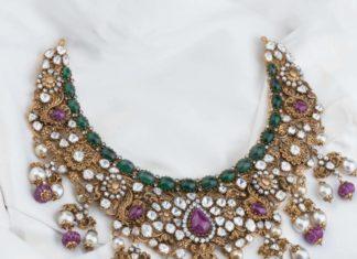 antique gold polki necklace (1)
