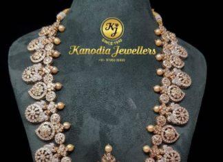 closed setting diamond necklace plus vaddanam