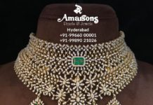 diamond and emerald bridal choker