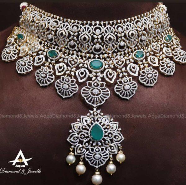 diamond and emerald choker (2)