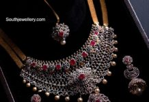 diamond and ruby choker set aabushan jewellery