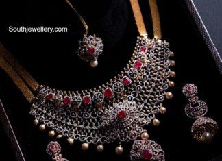 diamond and ruby choker set aabushan jewellery