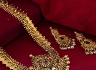 gold haram and erarings set
