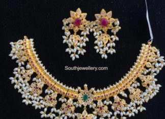 guttapusalu necklace and erarings set