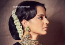 kangana ranaut in uncut diamond choker set