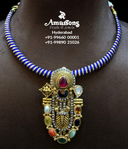 kante necklace with balaji pendant