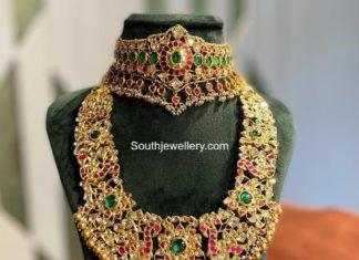 kundan choker and haram by aarni jewels
