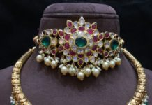 kundan choker and kante necklace