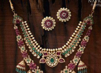 layered uncut diamond necklace (1)