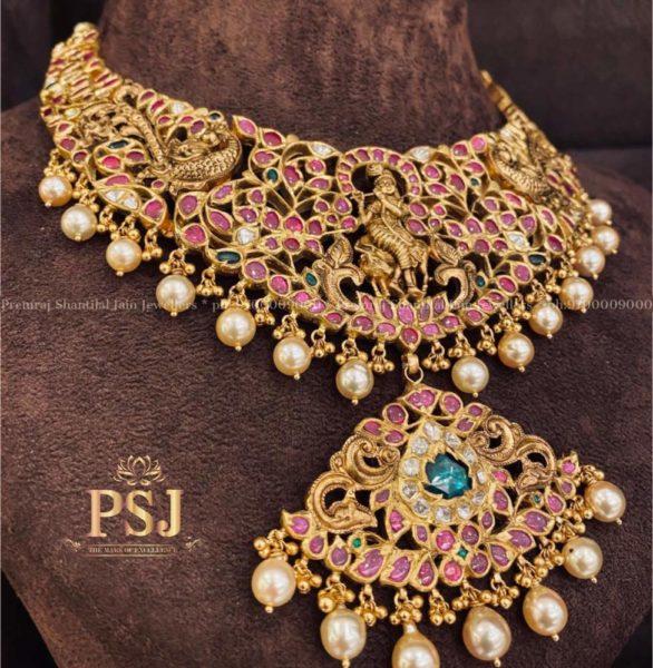 lord krishna kundan necklace