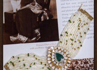 multi strand pearl choker with polki pendant (1)