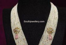 multi strand pearl haram with polki pendant (1)