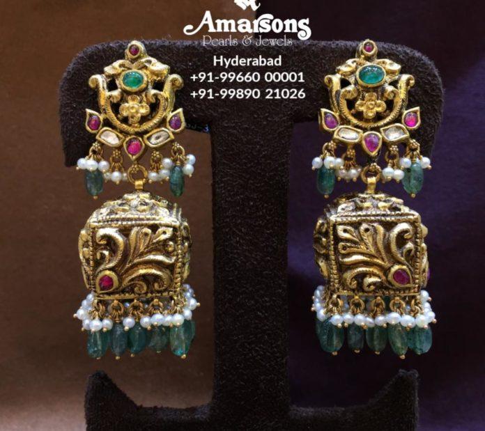 nakshi gold jhumkas (2)