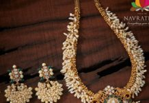 pearl haram and earrings set