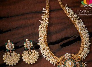 pearl haram and earrings set