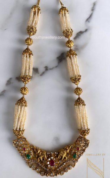 pearl haram with nakshi pendant (1)