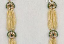 pearl haram with polki pendant (1)
