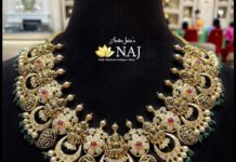uncut diamond Lakshmi necklace (2)