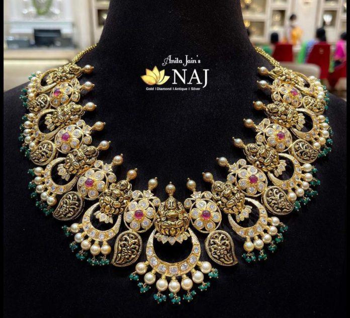 uncut diamond Lakshmi necklace (2)