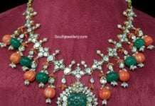 uncut diamond and ruby beads necklace (1)