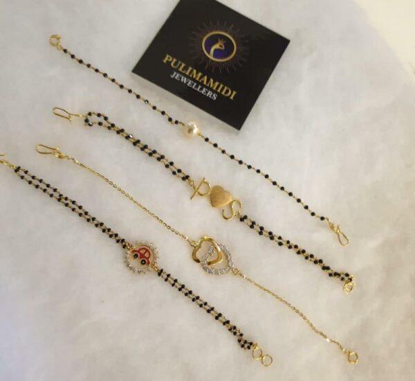 black beads bracelets