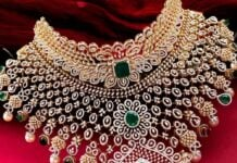 bridal diamond choker by neelkanth