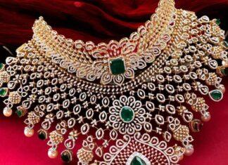 bridal diamond choker by neelkanth
