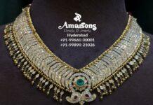 closed setting diamond tussi necklace
