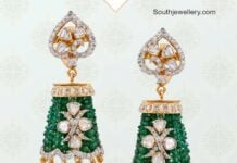 diamond and emerald jhumkis musaddilal