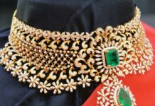 diamond choker ratna garba jewellery