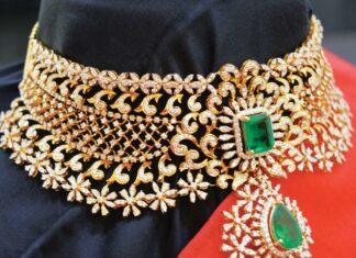 diamond choker ratna garba jewellery