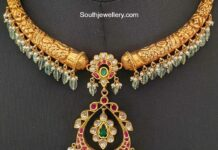 kante necklace with kundan pendant