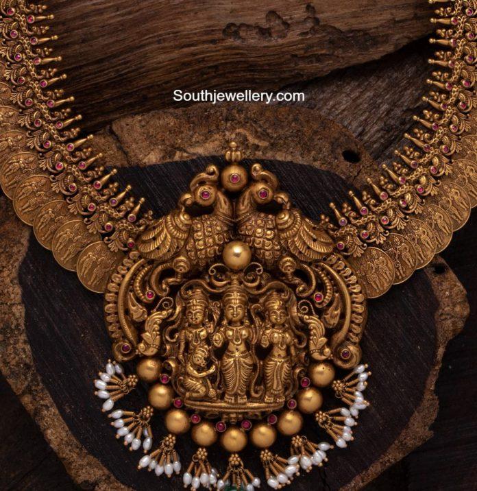 kasu haram with ram parivar pendant aabushan