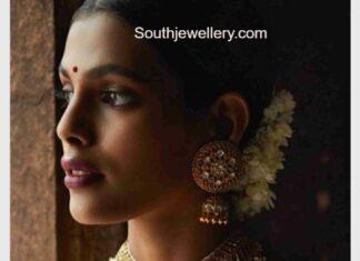 kundan necklace earrings and mango mala