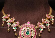 kundan peacock necklace (5)