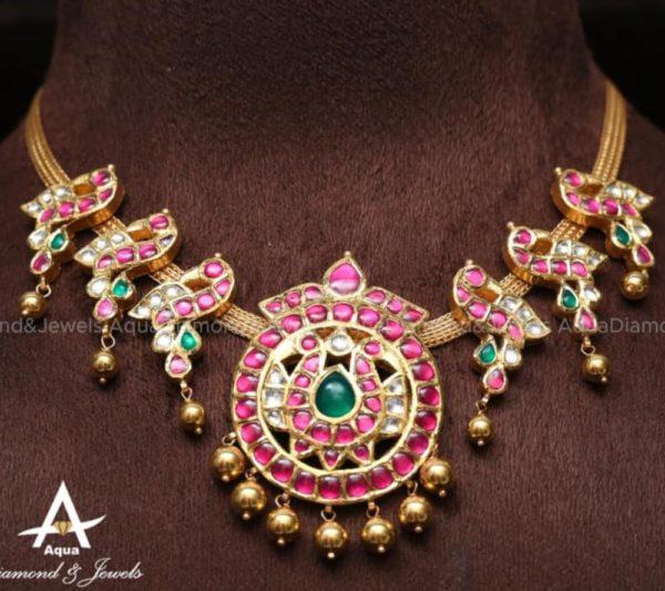 kundan peacock necklace (5)