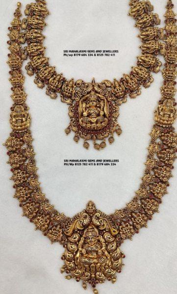 lakshmi necklace and haram (1)