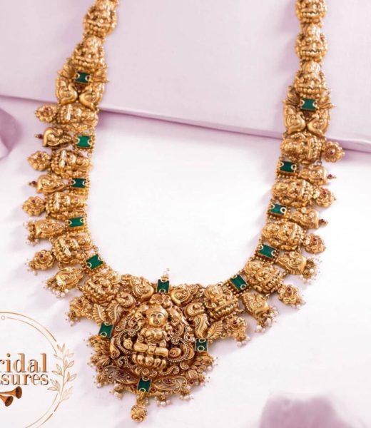 lakshmi peacock gold haram neelkanth
