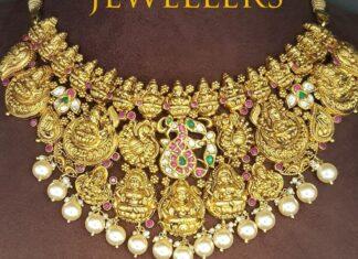 lakshmi peacock nakshi necklace