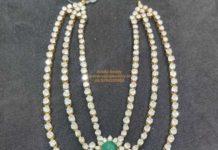 layered polki diamond haram
