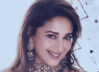 madhuri dixit in polki choker and earrings (1)