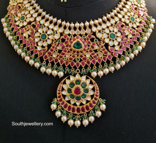 peacock kundan necklace (4)