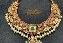 peacock kundan necklace (5)