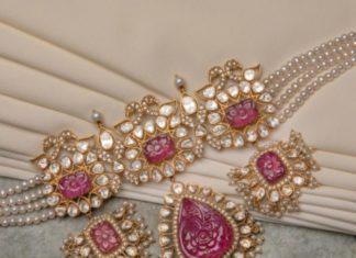 pearl choker with uncut diamond pendant (1)