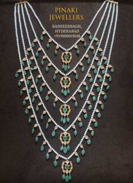 pearl satlada necklace