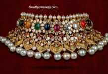polki and navrathan choker