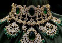 polki diamond and emerald choker (1)