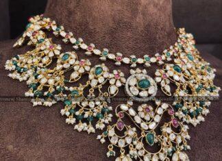 polki diamond bridal necklace