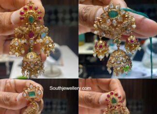 polki diamond chandbali designs (2)