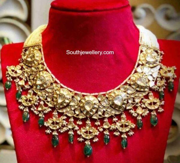 polki diamond necklace kishandas
